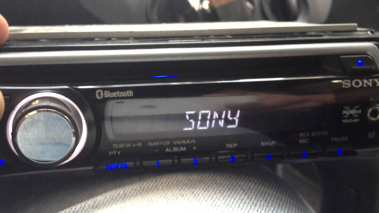 sony bt 2700 problem help car radio player youtube rh youtube com manual som automotivo sony xplod mex-bt3907u