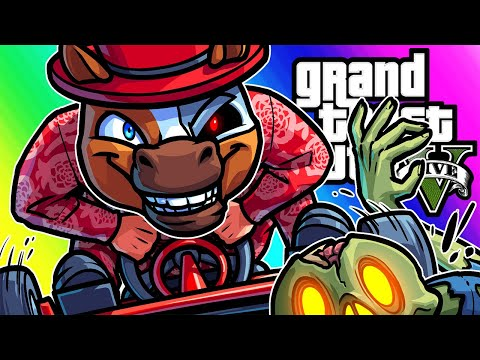 GTA5 Funny Moments - Showing Delirious Go-karts and... Zombies?