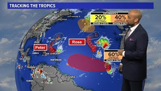 Tropics Update Tracking Tropical Storms Peter And Rose Tuesday Afternoon