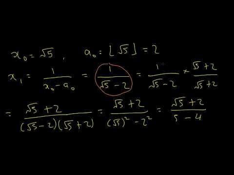Continued Fractions #5: The Square Root Of 5