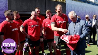Prince Charles Receives Signed Shirt from Welsh Rugby Team
