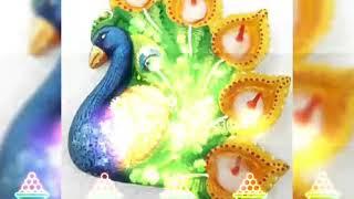 Beautiful Peacock Designer Diya Collection||Peacock Designer Diya For Diwali Festival||