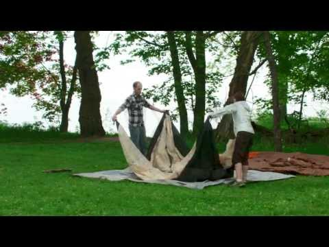 How To Set-up A Pole Tent From Canadian Tire