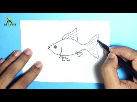 How To Draw A Fish ✅  Gold Fish Drawing Easy