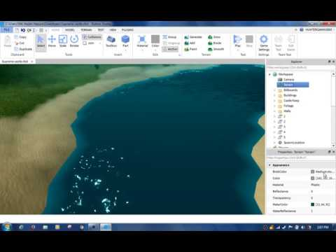 Roblox Studio How To Make Realistic Water Youtube