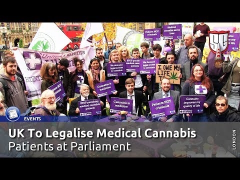 Medical Marijuana Tea Party at Parliament - UK Steps Closer To Legal Cannabis - Smokers Guide TV UK