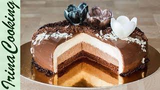 Муссовый торт Три шоколада (форма Eclipse)  | Triple-Chocolate Mousse Cake Recipe (Eclipse Form)(Всем известен муссовый торт Три шоколада. Предлагаю свой вариант приготовления этого десерта. Список ингре..., 2016-10-14T13:00:59.000Z)