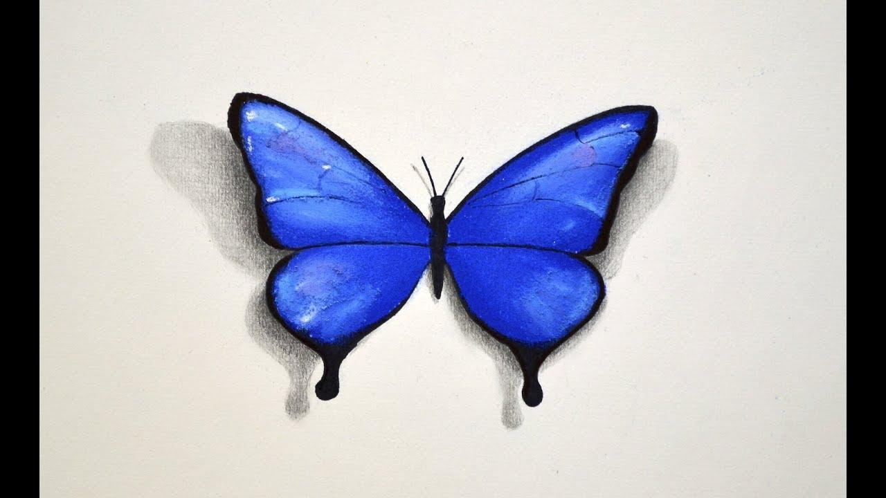 Cómo Dibujar Con Pastel Una Mariposa Arte Divierte Youtube