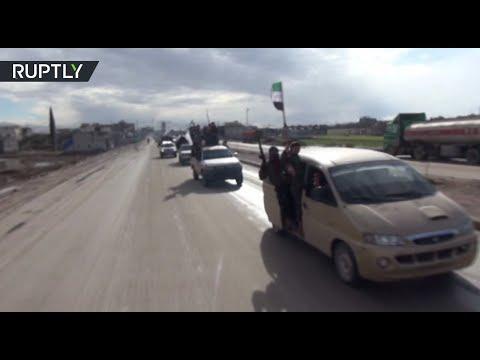 Отряды Свободной сирийской армии прибывают на границу Турции с САР