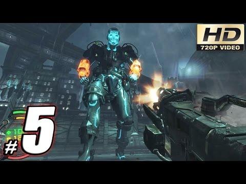 Hard Reset Redux Gameplay Walkthrough: Part 5 - Giant Atlas Boss Battle! - PC 60fps