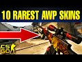 Top 10 Insanely Rare AWP Skins In CS:GO