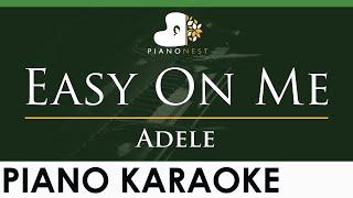 Adele - Easy On Me - LOWER Key (Piano Karaoke Instrumental)