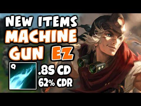 NEW ITEMS make EZREAL Q a MACHINE GUN, over 60% CDR | S11 Ezreal - League of Legends