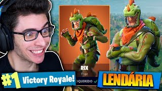 I BOUGHT REX'S LEGENDARY SKIN AND KILLED IT ALL! Fortnite: Battle Royale!