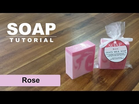 Rose Scented Soap, Melt And Pour Soap Tutorial Swirls
