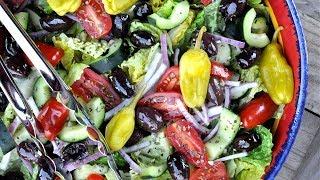 Греческий салат  - клаcсический рецепт