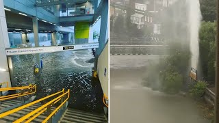 video: UK weather: London hospital forced to evacuate 100 patients after power outage from floods