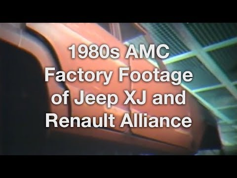 Building the AMC Jeep XJ & Renault Alliance - Vintage Factory Footage