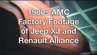 Building the AMC Jeep XJ & Renault Alliance - Vintage Factory Footage