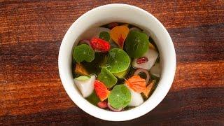 Nick's Nasturtium Salad Soup: Our Most Gorgeous Dish Ever