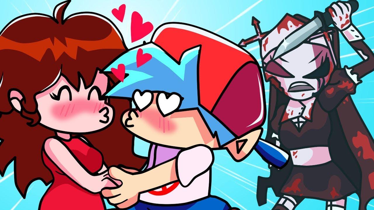 Friday Night Funkin BOYFRIEND and GIRLFRIEND LOVE STORY - Cartoon Animation