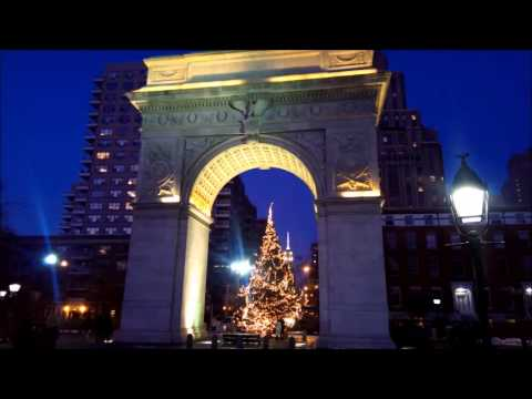 Washington Square Arch in the lights - NYC