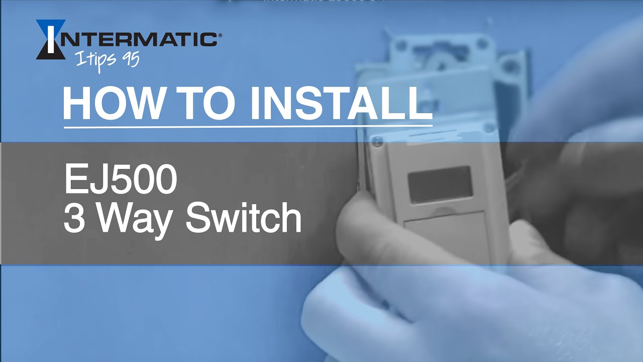 Intermatic Ej500 Wiring Diagram How To Install The Three Way Timer Switch Youtube Rh Com Model Light