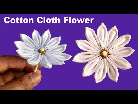 How To Make Flowers Out Of Fabric Or Cotton Cloths Without Sewing