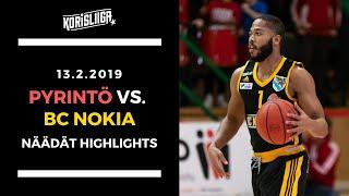 Pyrintö vs BC Nokia Näädät Highlights 13 2 2019