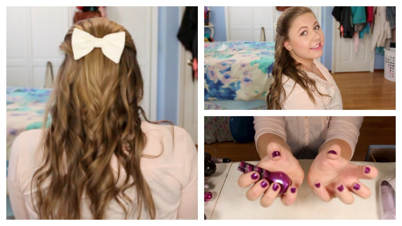 First Day of School: Hair, Makeup, & Nails! - YouTube