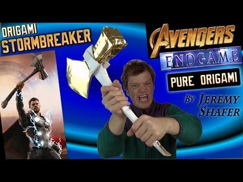 DIY Stormbreaker -- ORIGAMI (Avengers Endgame)