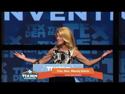 Wendy Davis at the 2016 Texas Democratic Convention