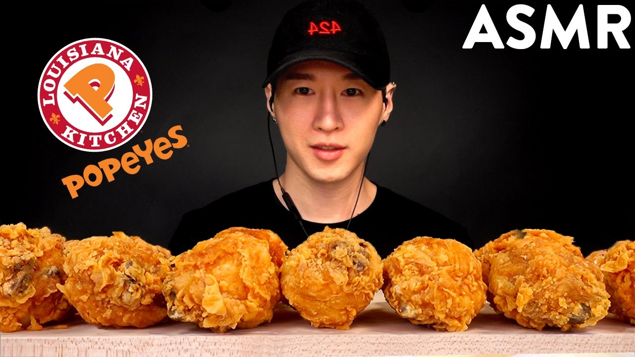 Asmr Spicy Fried Chicken Mukbang No Talking Eating Sounds Zach Choi Asmr