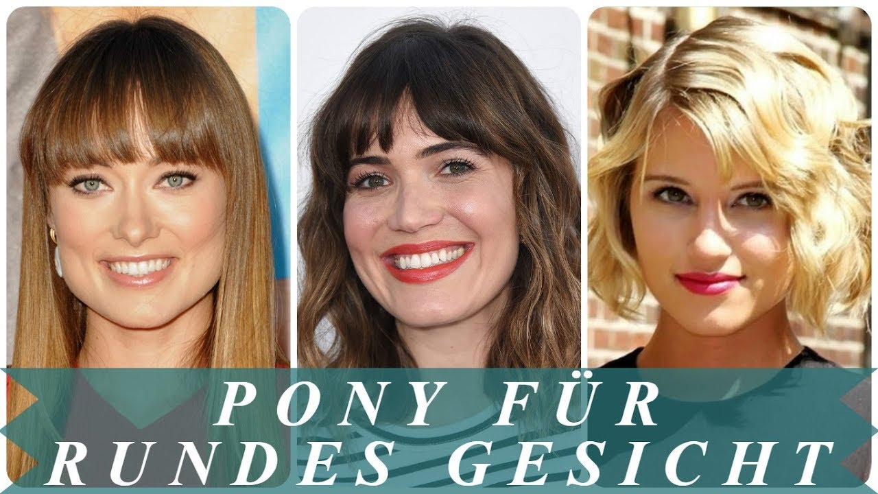 Frisuren Fur Runde Gesichter Pony 2018 Frauen Youtube