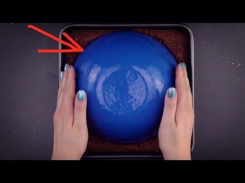 Galaxy Mirror Cake  - Rezept Für Einen Saftig-schokoladigen Kuchen Mit Spiegel Glasur