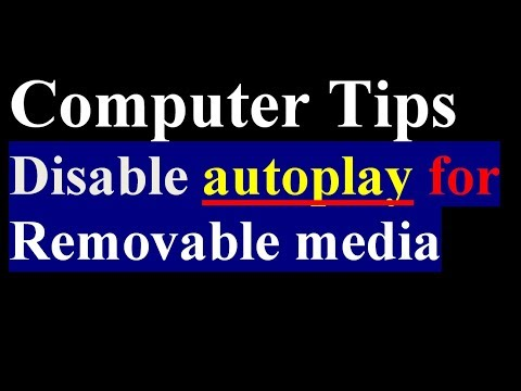 How To Disable Auto Play For Removable Media   Computer Tips