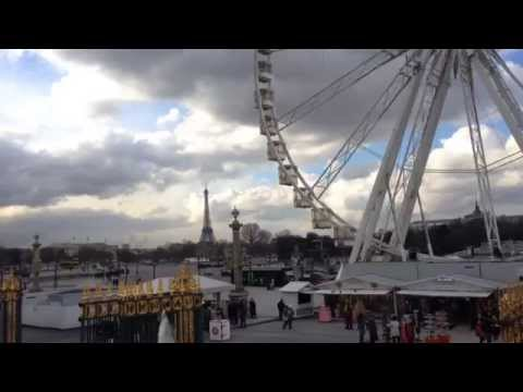 Paris: Tuileries Garden and Ferris Wheel in Hyperlapse