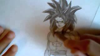 Dibujando / Drawing  Goku SSJ4
