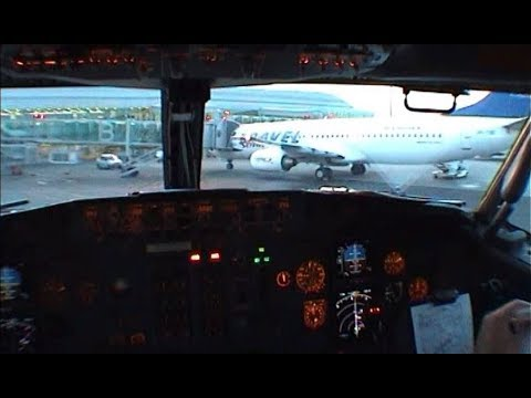 Cockpit video Prague - Paris CDG - Prague in 2003