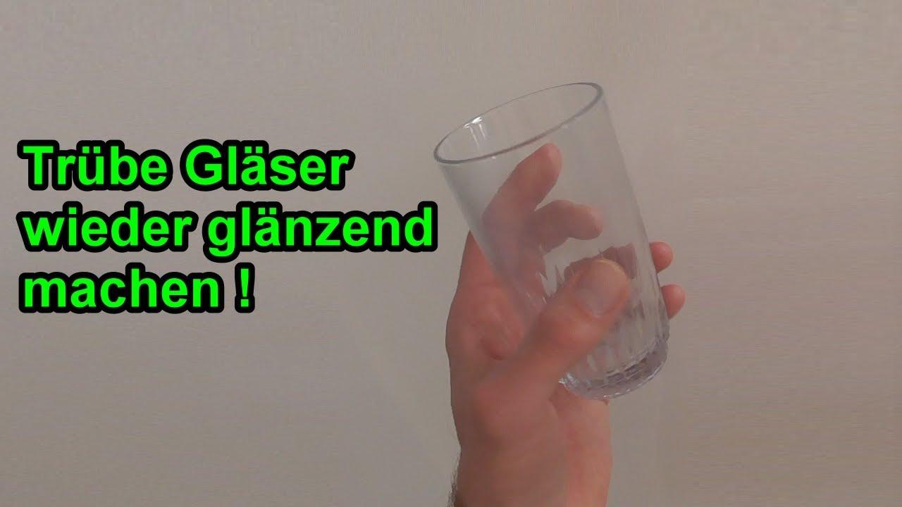 Gut bekannt Kalkränder an Gläser mühelos entfernen – Verkalkte trübe Gläser TP07