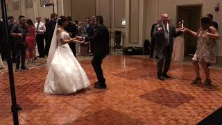 Bride Dances Samba to The Lola Jazz Trio @ The Palmer House Chicago