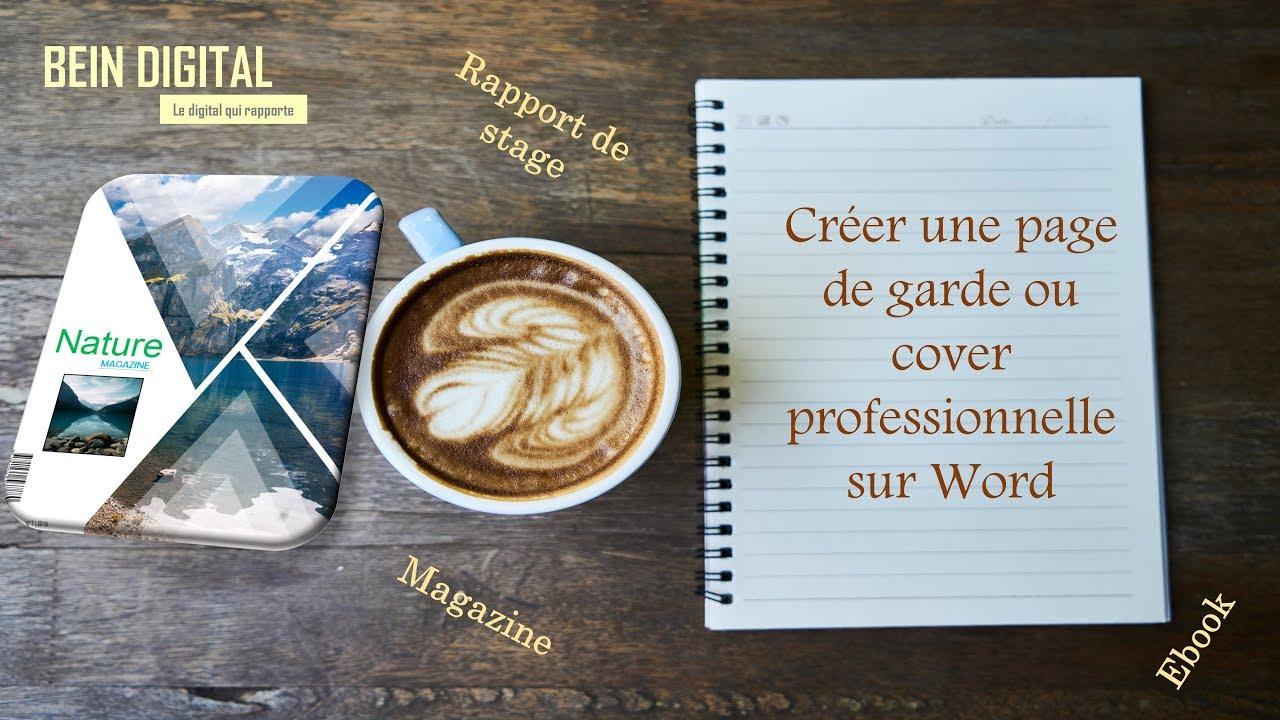 Créer Page De Garde Ou Cover Professionnelle Dans Microsoft Word Rapport Stage Ou Magazine