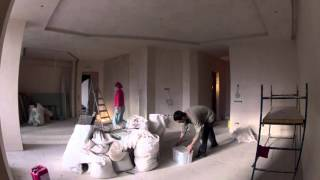 Timelapse renovated apartment 1 year in 6 minutes. (ремонт квартиры за 6 минут)