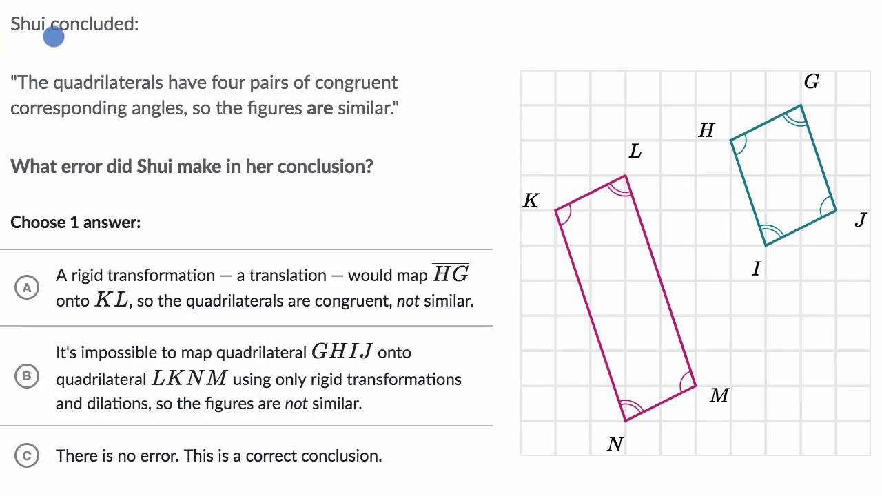 Similar shapes \u0026 transformations (video)   Khan Academy [ 720 x 1280 Pixel ]