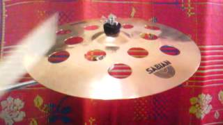 sabian b8 pro o zone crash 16 cymbal test