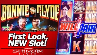 Bonnie and Clyde Slot - First Look, Wild Pair Feature and Free Spins Bonus