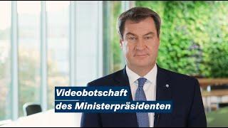 """Videobotschaft von ministerpräsident dr. markus söder: """"mehr testen, mehr maske, weniger alkohol und partys. wir in bayern bleiben konsequent hal..."""