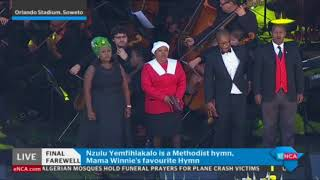 Winnie Mandela's favourite Methodist hymn 'Nzulu Yemfihlakalo' is sung