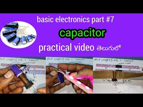 Capacitor //basic Electronics Part#7//capacitor Working In Telugu