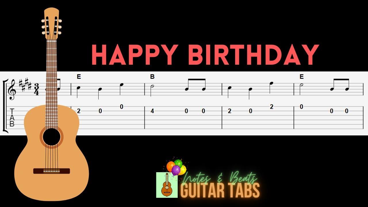 Happy Birthday E Major GUITAR TAB   YouTube